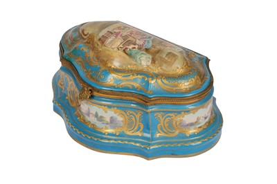 Lot 36-A late 19th/early 20th century French Sevres style shaped porcelain box