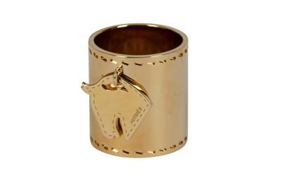 Lot 1279-Hermes Tete de Cheval Horse Charm Scarf Ring