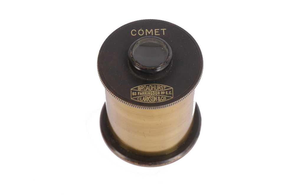 "Lot 406-A Broadhurst Clarkson Co. ""Comet"" Brass Telescope Eyepiece"