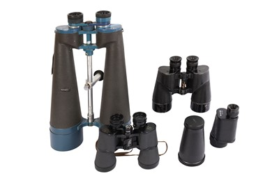 Lot 410-A Collection of Binoculars & a Fullerscope Refractor