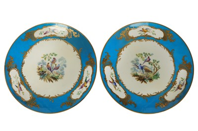 Lot 40-A pair of French 19th century Sevres style porcelain plates