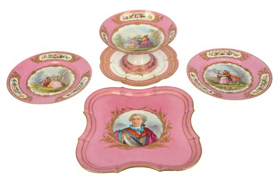 Lot 38-A late 19th/20th century French Sevres style porcelain tray