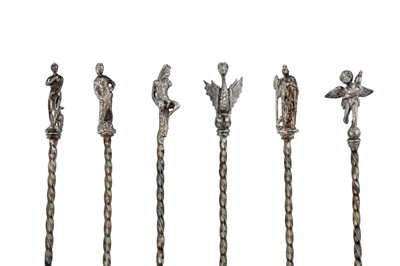 Lot 44-A mixed group of silver flatware