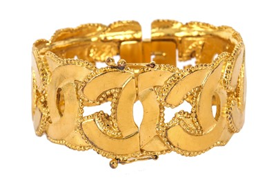 Lot 1276-Chanel CC Logo Cuff Bracelet