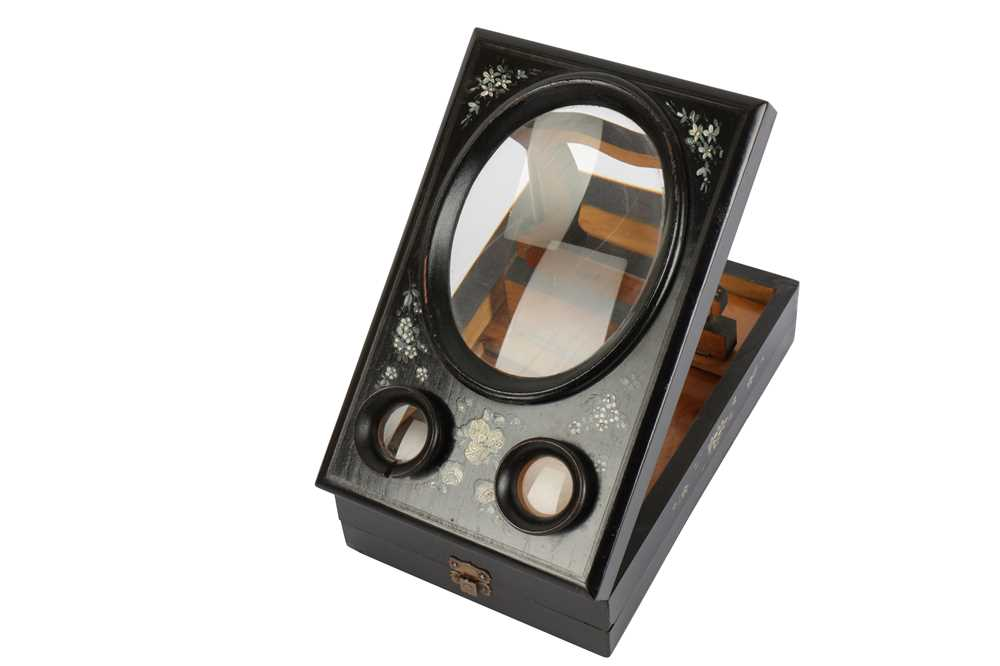 Lot 405-A Tabletop Folding Victorian Stereo Graphoscope