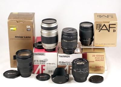 Lot 440-Group of Boxed Nikkor & Nikon Fit AF Lenses.