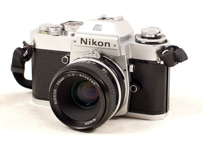 Lot 413 - A Good Chrome Nikon EL2 Body & 50mm Nikkor f2 Lens.