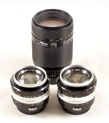 Lot 414-A Good Nikkor 85mm f2 Lens, & Other Nikon Items for SPARES/REPAIR.