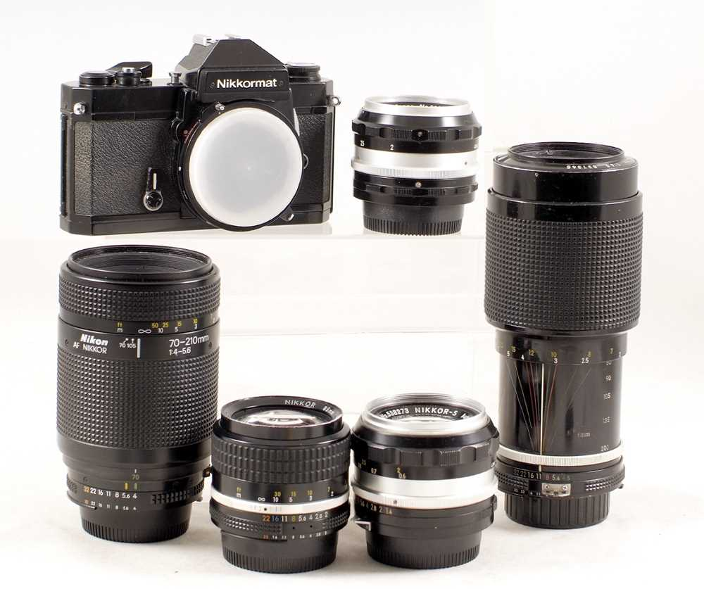 Lot 414 - A Good Nikkor 85mm f2 Lens, & Other Nikon Items for SPARES/REPAIR.