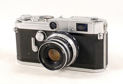 Lot 494-Canon VL2, Lever Wind Rangefinder Camera, with Soviet N-61 Lens