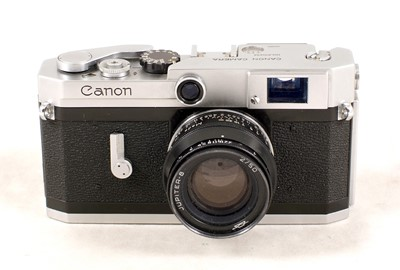 Lot 493-Canon VI-L, Lever Wind Rangefinder Camera, with Jupiter Lens
