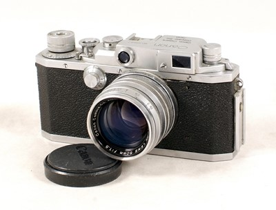Lot 489-Canon Model IVF Rangefinder Camera, with 50m f1.8 Lens