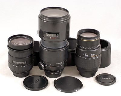 Lot 459-Tamron 70-210mm f2.8 & Other Nikon AF Fit Zoom Lenses