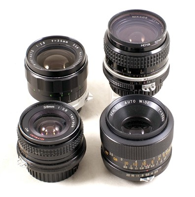 Lot 443-Group of Nikon Fit Lenses, Flash & Bellows etc