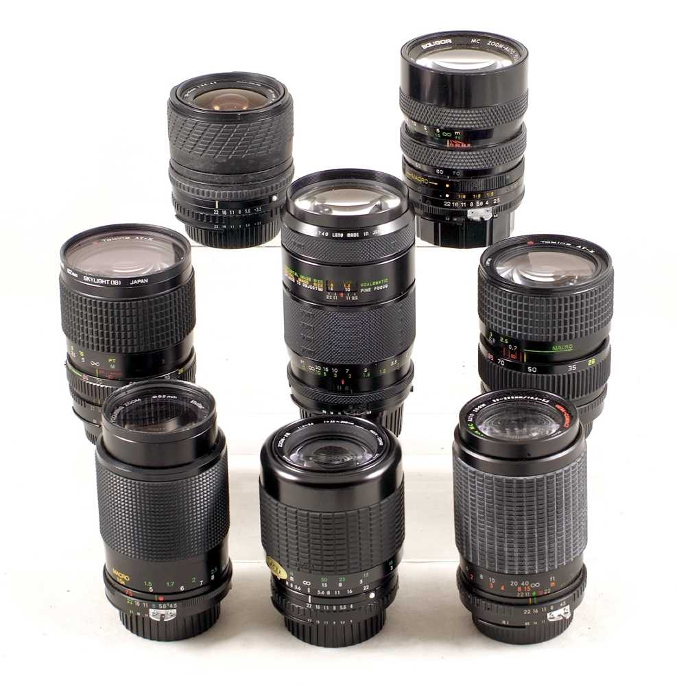 Lot 431 - A Sigma 200mm Scalematic & Other Marco Focusing Nikon Fit Lenses
