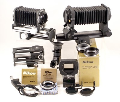 Lot 455-Nikon PB-6 & Other Bellows Units