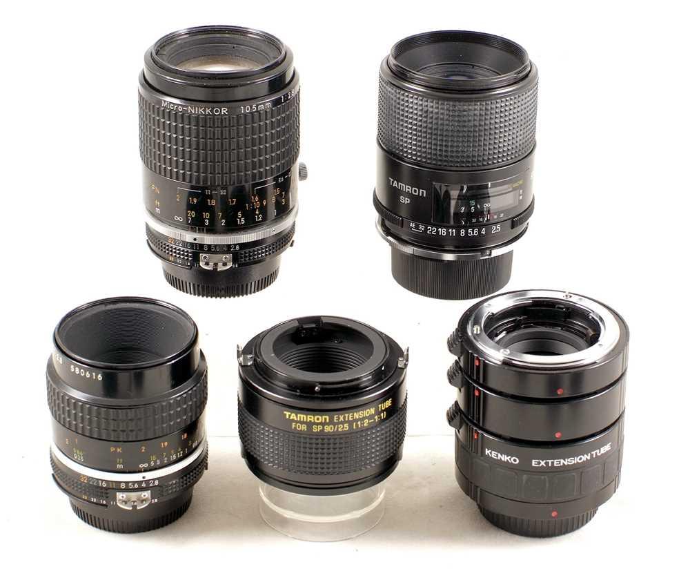 Lot 441-Group of FAST Nikon Macro & Micro Lenses