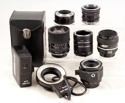 Lot 444 - Group of Nikon Macro Equipment