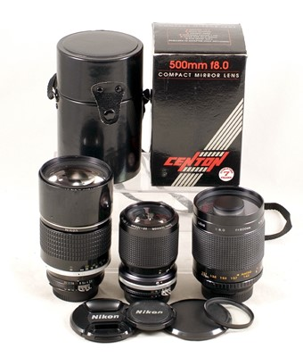 Lot 445 - Nikkor 180mm f2.8 Ai-s & Other Lenses