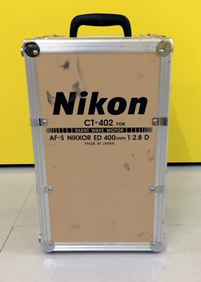 Lot 449-Nikon CT-402 Heavy Duty Lens Trunk for Nikkor AF-S ED 400mm f2.8 D Lens