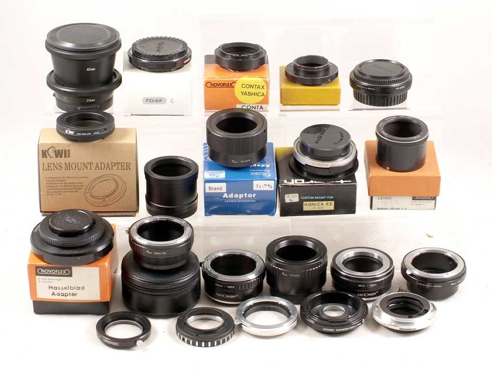 Lot 430-A Selection of Nex & Other Lens Mount Adapters.