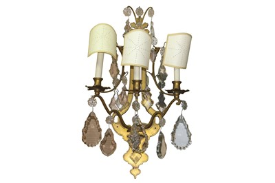 Lot 70 - A PAIR OF FRENCH ORMOLU WALL SCONCES, LATE 19TH/ EARLY 20TH CENTURY