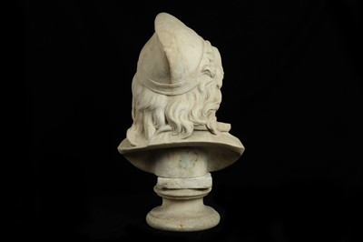 Lot 9 - A LATE 19TH CENTURY ITALIAN CARVED MARBLE BUST OF A BOY
