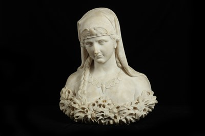 Lot 5 - ATTRIBUTED TO PIETRO BAZZANTI (ITALIAN 1825-1895): A LATE 19TH CENTURY ORIENTALIST BUST OF A GIRL