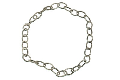 Lot 45 - A SILVER NECKLACE, BY TIFFANY & CO.