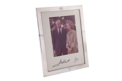 Lot 77 - A late 20th century Spanish silver Royal presentation photograph frame, Madrid circa 1980 by Joyeria Perez Fernandez