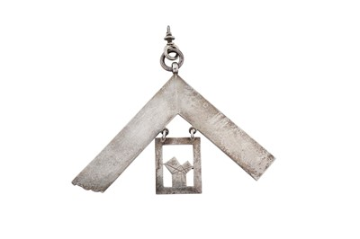 Lot 73 - A Victorian sterling silver masonic medal, London 1865 by Abraham David Loewenstark