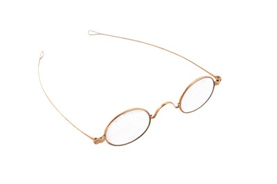 Lot 66 - A pair of 19th century 14 carat gold spectacles