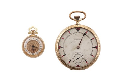 Lot 5 - 2 GOLD POCKET WATCHES.