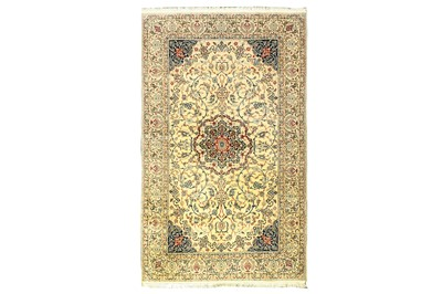 Lot 52 - AN EXTREMELY FINE PART SILK NAIN RUG, CENTRAL PERSIA