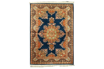 Lot 85 - AN EXTREMELY FINE SILK QUM RUG, CENTRAL PERSIA