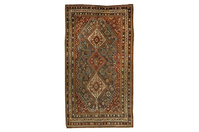 Lot 19 - A FINE QASHQAI LONG RUG, SOUTH-WEST PERSIA