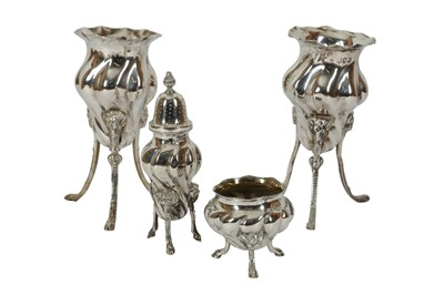 Lot 9 - A PAIR OF VICTORIAN STERLING SILVER POSY VASES