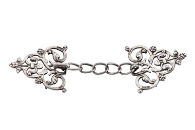 Lot 50 - A Victorian sterling silver nurse's buckle, Chester 1897 by King & Sons