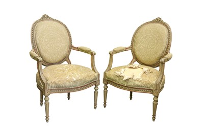 Lot 85 - A PAIR OF LOUIS XIV STYLE FAUTEUIL ARMCHAIRS, EARLY 20TH CENTURY