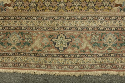 Lot 44 - A VERY FINE ANTIQUE TABRIZ HAJI-JALILI PRAYER RUG, NORTH-WEST PERSIA