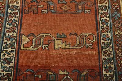 Lot 7 - AN ANTIQUE BIJAR RUG, NORTH-WEST PERSIA