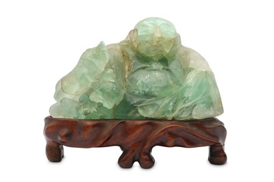 Lot 44 - A CHINESE HARDSTONE CARVING OF BUDAI HESHANG.
