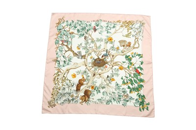 Lot 42 - Hermes 'Au Coeur Des Bois' Silk Scarf