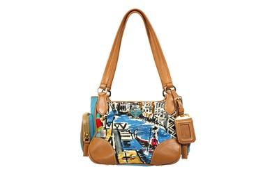 Lot 90 - Prada Blue Canapa St Venez Small Shoulder Bag