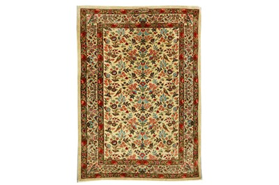 Lot 86 - AN EXTREMELY FINE SIGNED SILK QUM RUG, CENTRAL PERSIA