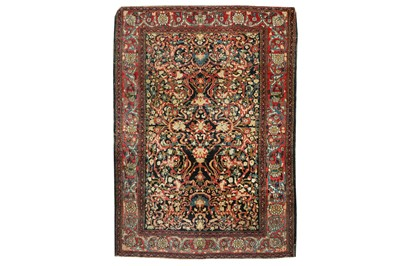 Lot 56 - A VERY FINE ANTIQUE ISFAHAN RUG, CENTRAL PERSIA