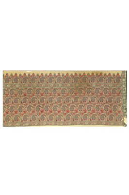 Lot 14 - A JAMAVAR SHAWL AND A  PALLU FRAGMENT