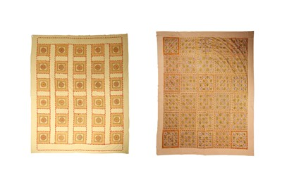 Lot 21 - TWO BEDSPREADS OF EMBROIDERED COTTON
