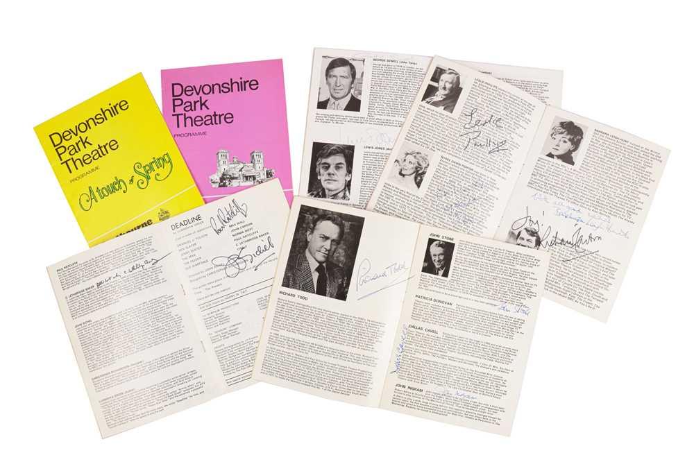 Lot 1439 - Autograph Collection.- Theatre Programmes