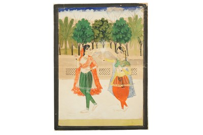 Lot 297 - TWO LADIES IN A PALATIAL GARDEN